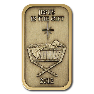 Christmas 2012 Bronze Bar X-7 Baby Manger (with ornament holder)